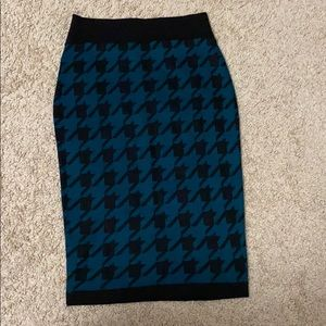 Saber tooth print skirt